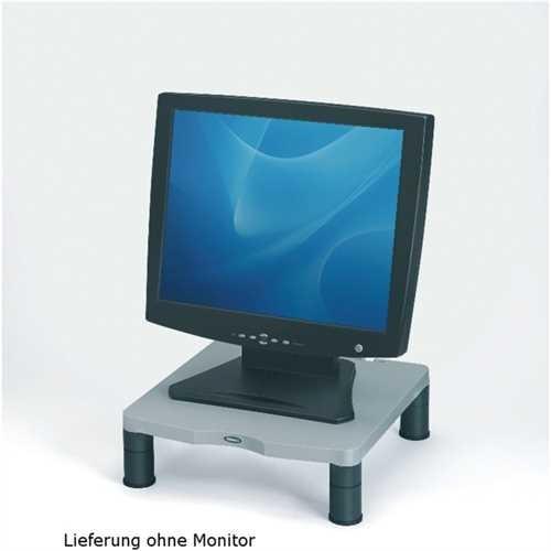 Fellowes Monitorständer, Platte: 34 x 34 cm, 3fach höhenverstellbar, 5 - 10 cm, Tragfähigkeit: 36 kg