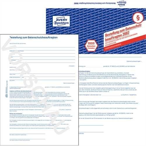 AVERY Zweckform Datenschutzbeauftragter, A4, 2fach, sd, Papier, blau, 2 Blatt