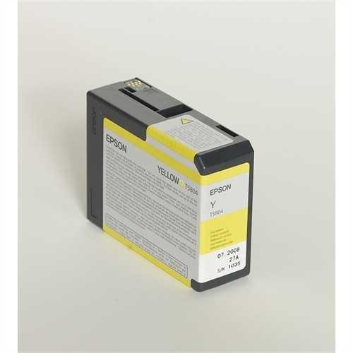 EPSON Tintenpatrone, T5804, C13T580400, original, gelb, 80 ml