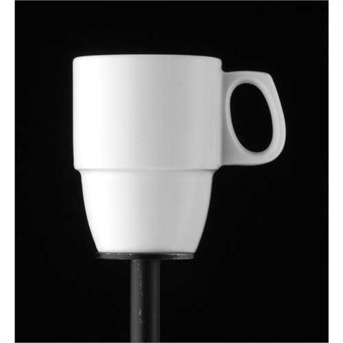 BAUSCHER Kaffeebecher, dimension, Mehrweg, Porzellan, rund, 290 ml, 7,8 x 10,2 cm, weiß (6 Stück)