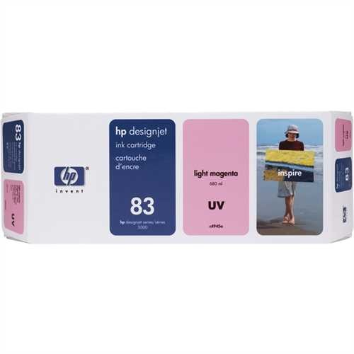 HP Tintenpatrone 83, C4945A, original, UV, hellmagenta, 680 ml