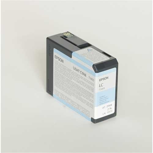 EPSON Tintenpatrone, T5805, C13T580500, original, hellcyan, 80 ml