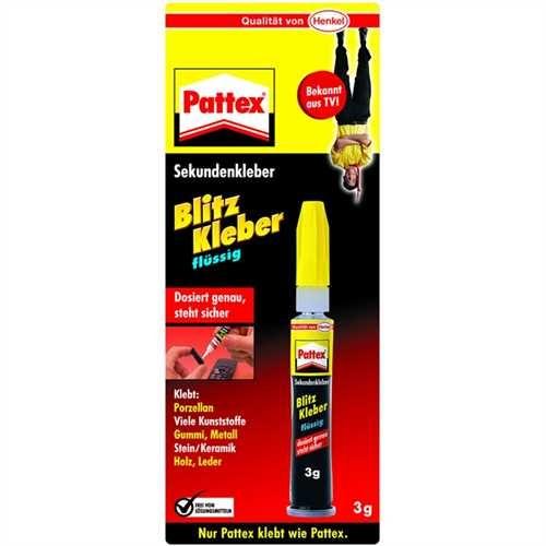 Pattex Sekundenkleber, flüssig, Tube (3 g)