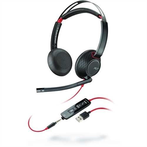 PLANTRONICS Headset, Blackwire C5220, Kopfbügel, Stereo, USB A, 164,2 g, schwarz