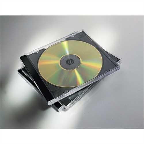 Fellowes CD-Hülle JewelCase, für: 2 CDs, schwarz (5 Stück)