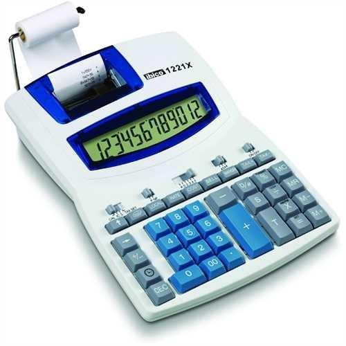 ibico Tischrechner, 1221X, Netzanschluss, druckend, LCD, 12stellig, 212 x 278 x 18 mm, 800 g, lichtg