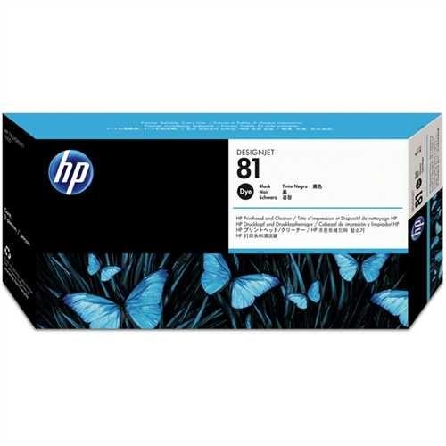 HP Druckkopf 81, C4950A, original, Dye, schwarz