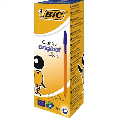 BIC Kugelschreiber, Orange™, 0,35 mm, Schaftfarbe: orange, Schreibfarbe: blau (20 Stück)