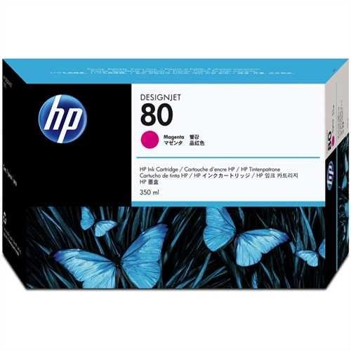 HP Tintenpatrone 80, C4847AE, original, magenta, 350 ml