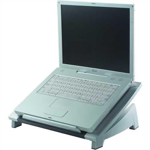 Fellowes Laptopständer, stufenlos neigbar, 38,4 x 28,9 x 11/16,5 cm, silber/schwarz