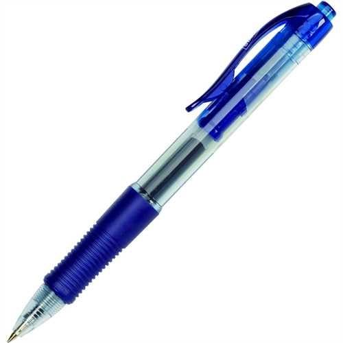 STAPLES Gelschreiber, Druckmechanik, 0,4 mm, Schreibfarbe: blau (12 Stück)