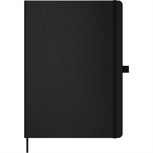 Oxford Notizbuch Office Signature, punktkariert, A5, Einband: schwarz, 96Bl.