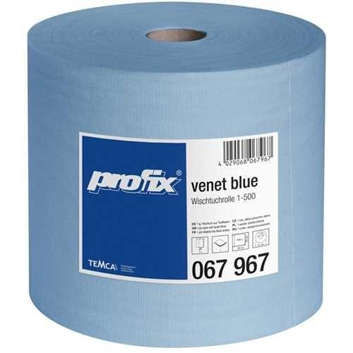 Wischtuchrolle venet 1-lg. blau 38x29cm 500 Bl
