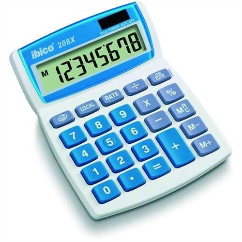 ibico Tischrechner, 208X, Solar-/Batteriebetrieb, bewegliches Display, LCD, 8stellig, 1zeilig, 107 x
