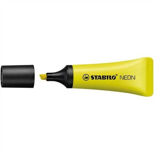 STABILO Textmarker NEON, Keilspitze, 2 - 5 mm, Schreibf.: gelb