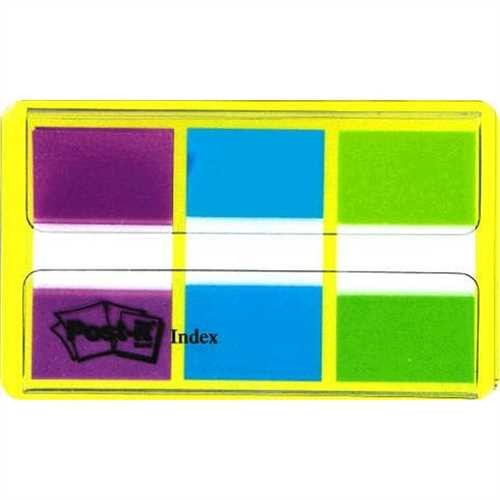 Post it Index lila/bl/gr +Etui