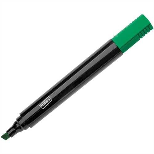 STAPLES Permanentmarker, Einweg, Keilspitze, 1 - 5 mm, Schreibfarbe: grün (10 Stück)