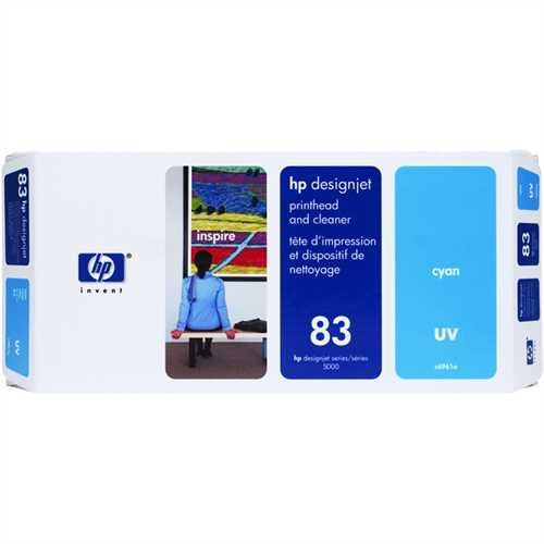 HP Druckkopf 83, C4961A, original, UV, cyan