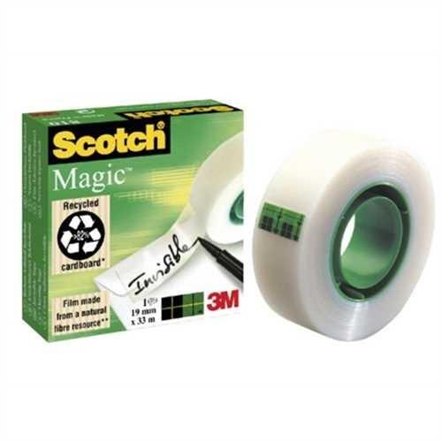 Scotch Klebeband Magic™ Tape 810, Zelluloseacetat, selbstklebend, permanent, 19 mm x 33 m, transpare