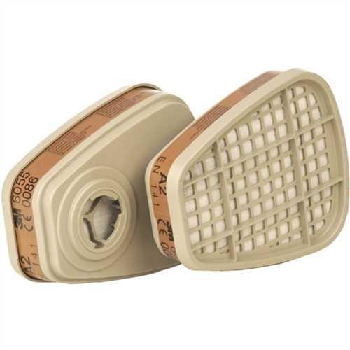 3M™ Atemschutzfilter 6055, gegen organische Gase und Dämpfe, A2 (2 Stück)