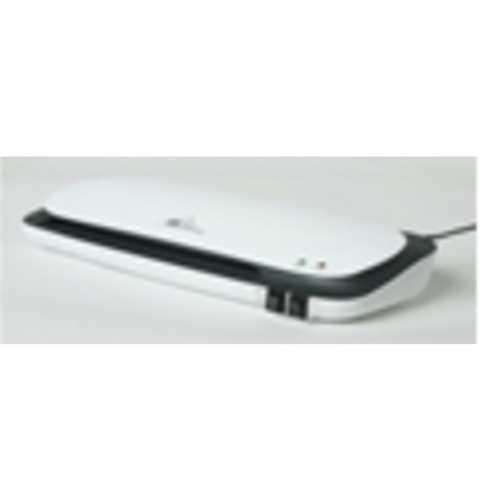 STAPLES Laminator, 25973E, Heiß-/Kaltlaminierung, max. Arbeitsbreite: A4, 2 Rollen, weiß/schwarz