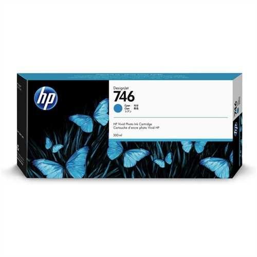 HP Tintenpatrone 746, P2V80A, original, cyan, 300 ml