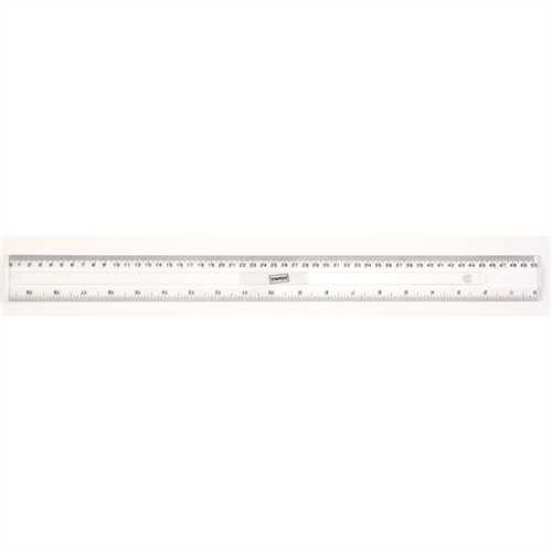 STAPLES Lineal, Kunststoff, mit Aufhängeloch, Länge: 50 cm, mm-Teilung, farblos, transparent, transp