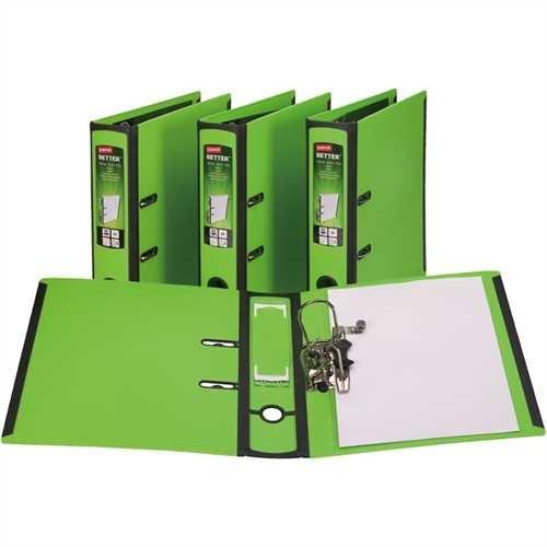 STAPLES Ordner BETTER BINDER, PP, Einsteckrückenschild, mit Griffloch, A4, 75 mm, grün