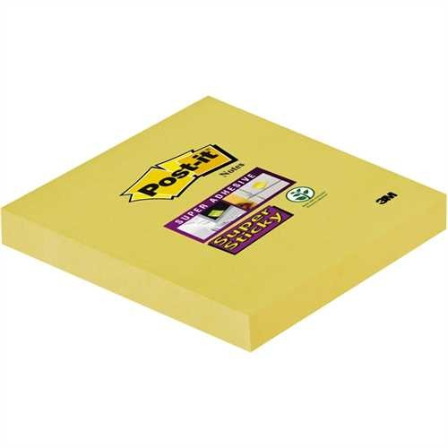 Post-it Haftnotiz Super Sticky, 76 x 76 mm, gelb, 90 Blatt (1 Block)