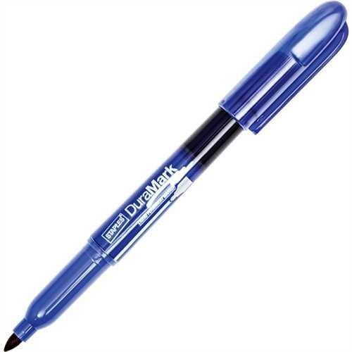 STAPLES Permanentmarker, DuraMark™, Rundspitze, 1 - 3 mm, Schreibfarbe: blau (10 Stück)