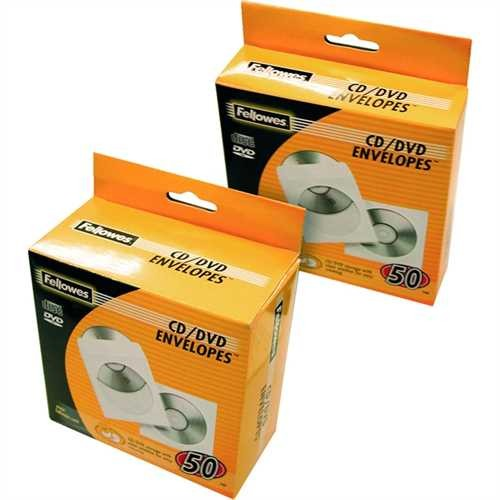 Fellowes CD-Hülle, für: 1 CD, weiß (50 Stück)