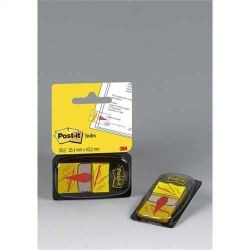 Post-it Haftmarker 680, mit Symbol, Unterschrift, 25,4 x 43,2 mm, gelb, Druckfarbe: rot, 50 Blatt (1