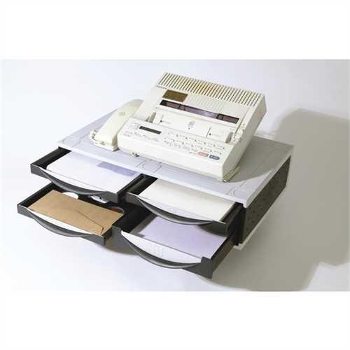 Fellowes Büromaschinenständer, 51,1 x 39,4 x 14 cm, Tragfähigkeit: 36 kg, platin/graphit