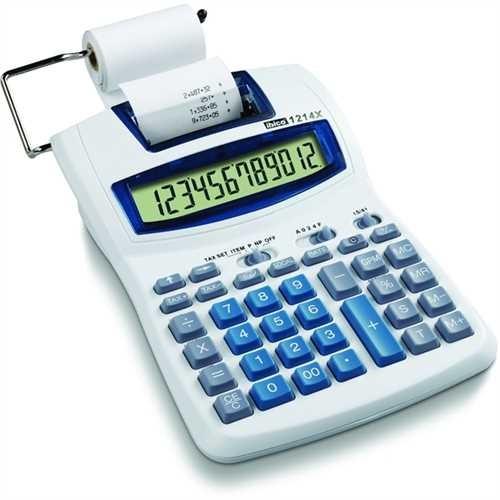 ibico Tischrechner, 1214X, Netzanschluss/Batteriebetrieb, druckend, LCD, 12stellig, 152 x 217.5 x 16