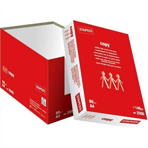 STAPLES Kopierpapier Copy, ungeriest, A4, 80 g/m², weiß (2.500 Blatt)