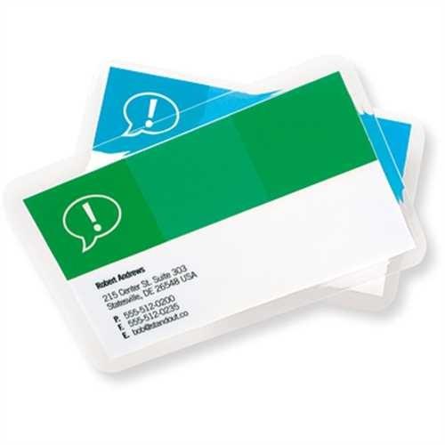 GBC Laminiertasche CardPouch, für: Visitenkarten, 90 x 60 mm, 0,125 mm (100 Stück)