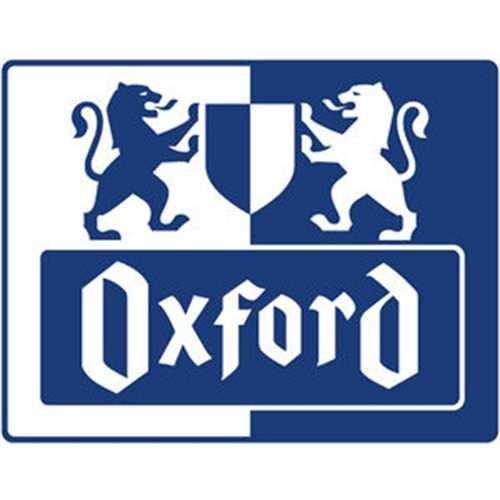 Oxford Notizbuch Office Signature, kariert, A5, weiß, Einband: blau, 80Bl.