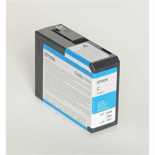 EPSON Tintenpatrone, T5802, C13T580200, original, cyan, 80 ml