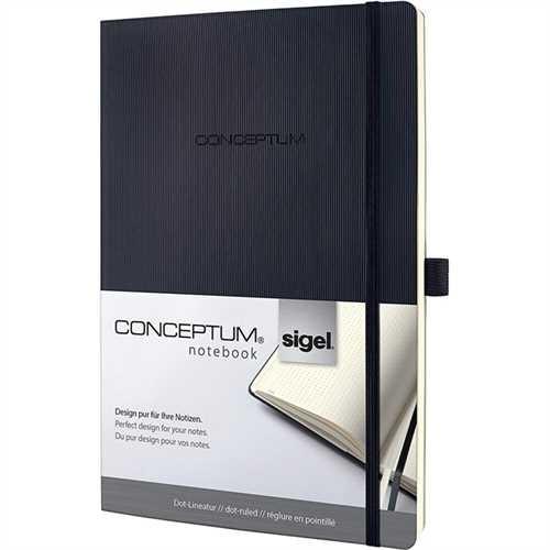 SIGEL Notizb.Softcover punktkariert schwarz A4 194 S