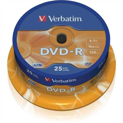 Verbatim DVD-R, Spindel, einmalbeschreibbar, 4,7 GB, 16 x (25 Stück)