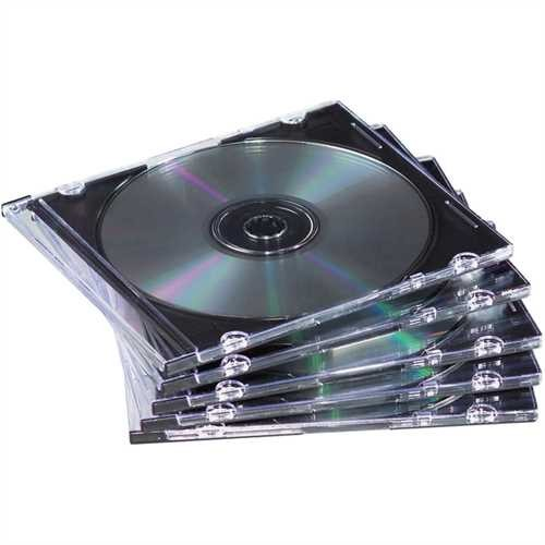 Fellowes CD-Hülle, Slimline, für: 1 CD/DVD, farblos (25 Stück)