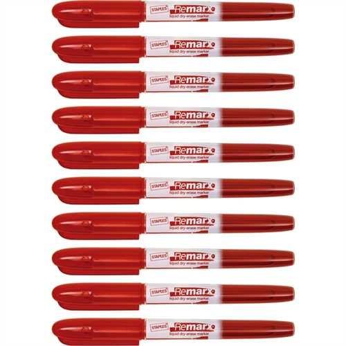 STAPLES Boardmarker, Remarx™, 1 - 3 mm, Schreibfarbe: rot (10 Stück)