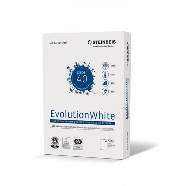 Steinbeis Multifunktionspapier EvolutionWhite, A4, 80 g/m², Recycling, weiß (500 Blatt)
