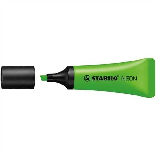 STABILO Textmarker NEON, Keilspitze, 2 - 5 mm, Schreibf.: grün