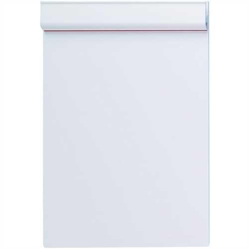 MAUL Schreibplatte Serie 231, Kunststoff, Klemme kurze Seite, A5, weiß