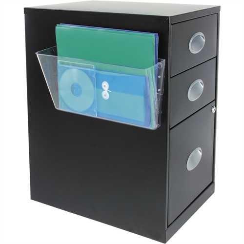 deflect-o Prospekthalter, für magnetische Flächen, 1 Fach A4 quer, 330 x 102 x 178 mm, transparent