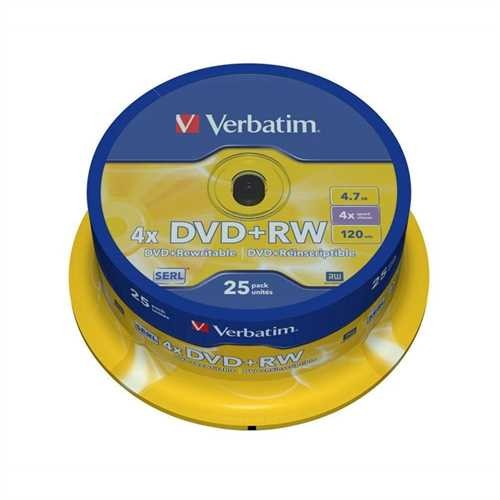 DVD+RW 4.7GB 4x 25er Spindel