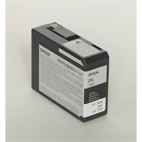 EPSON Tintenpatrone, T5801, C13T580100, original, fotoschwarz, 80 ml