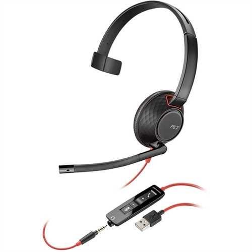 PLANTRONICS Headset, Blackwire C5210, Kopfbügel, Mono, USB A, 125,4 g, schwarz