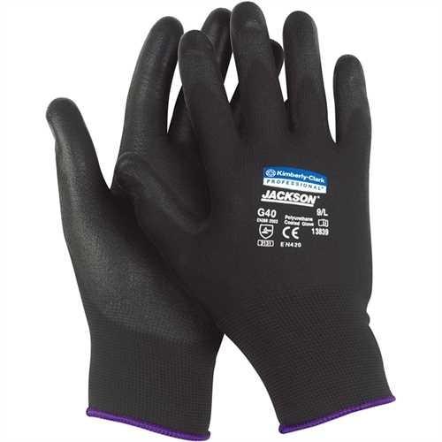 JACKSON SAFETY* Handschuh G40, Polyurethanbeschichtung, Größe: 9, schwarz (12 Paare)